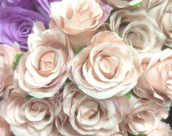 Silk flower 18 head Rose bunch in mauve, blush, purple , red, white and many more