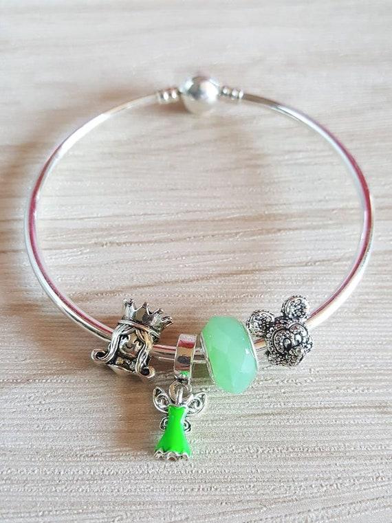 Disney Charm Bracelet Tinkerbell Tinkerbell Charm Bracelet Etsy