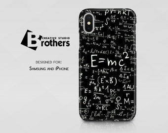 Science case for iPhone X, Math 8/8 Plus case, 7/7 Plus, SE, 6s/6, 5/5S/5C, 4/4S, Samsung Galaxy, Nerd case, Mathematics, Physics
