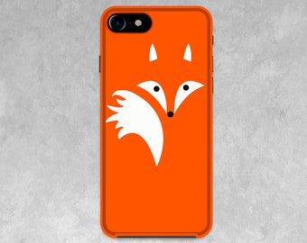Funny Fox phone case for iPhone X, 8/8 Plus, 7/7 Plus, SE, 6s/6, 5/5S/5C, 4/4S, Samsung, gift