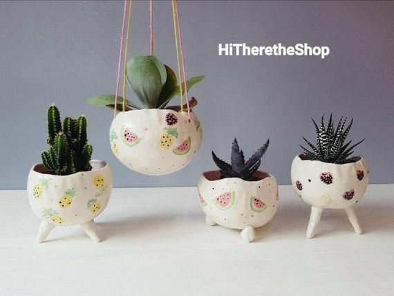 ceramic jewelry Plant jewelry Cactus Pots Ceramic necklaceCactus illustration cactus pendant, ceramic cactus necklace