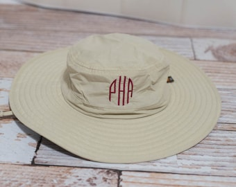 c87cdb1a7e8 Personalized Bucket Wide Brim Hat with Logo or Initials