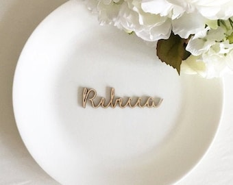 Table Place Name - Wooden Wedding Place Setting -laser cut - Wedding Place Cards - Wooden Wedding Place Name card for guests