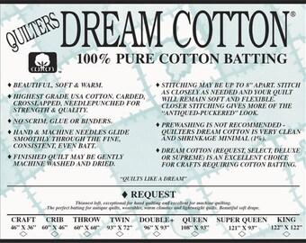 Quilters Dream Cotton Request low-loft Batting (Natural)