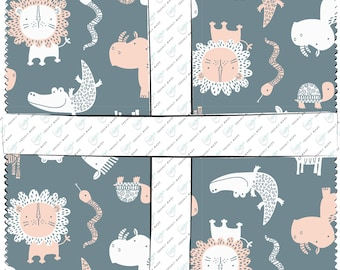 "Wild One Layer Cake - Andrea Turk Camelot Fabric - 42 10"" Squares"