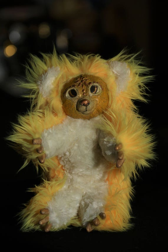 Sunbear Stuffed Animal, Sun Bear Ooak Poseable Art Doll Etsy
