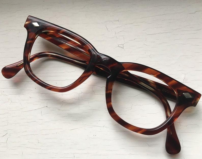 cc561fd646 44-20-140 ESO 50 s Keyhole Hornrim Eyeglasses Demi Amber
