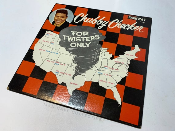 Chubby Checker LP Vinyl Album Record Vintage COVER ONLY Red Black White Art  Check For Twisters Only