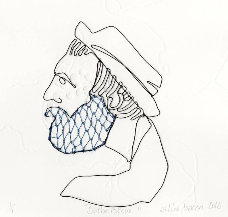 ORIGINAL ART WORK  Blue Beard v. I Original work on paper image 0