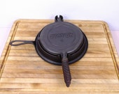 Stover waffle iron 8 w Alaskan Coil Handles. Excellent Condition. Stover Manufacturing Freeport Illinois. 1930 40 39 s.