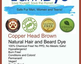 Natural Copper Brown (auburn) Henna Hair Dye