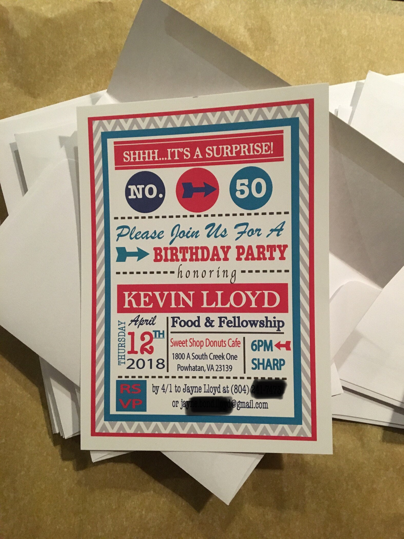 Fully Custom Designed Invitations - Printed with envelopes ...