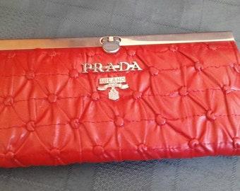 Red Original Prada Ladies Purse in excellent condition