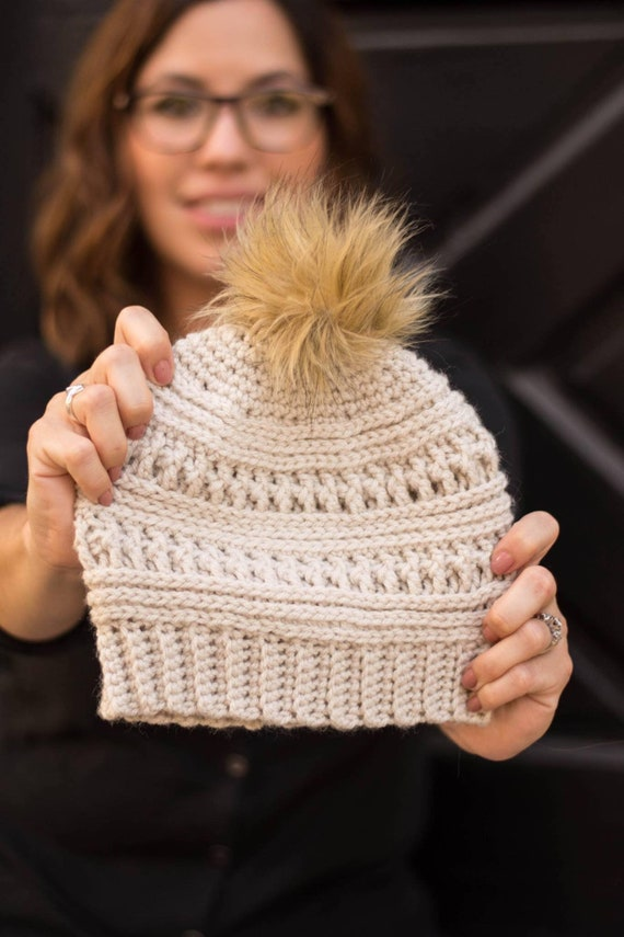 Crocheted beanies for babies up to adults