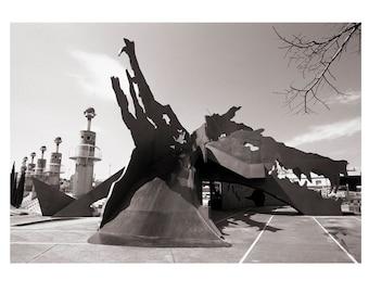 Industrial Spain Park. Barcelona.