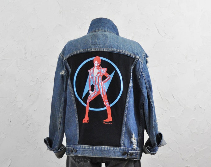 Vintage Levis Jacket with Custom David Bowie Patch