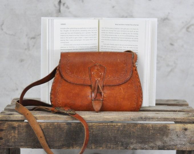 Vintage, Tooled Leather Bag