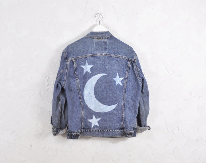 Vintage Levi's Denim Jacket with Custom Patches