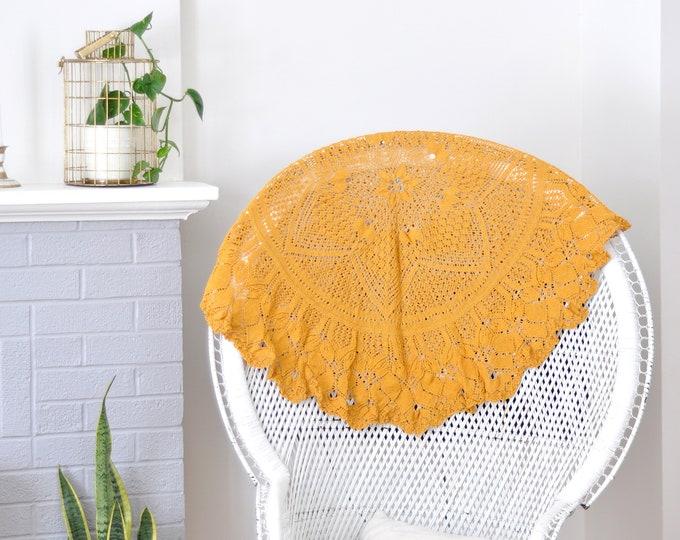 Vintage Crochet Rug