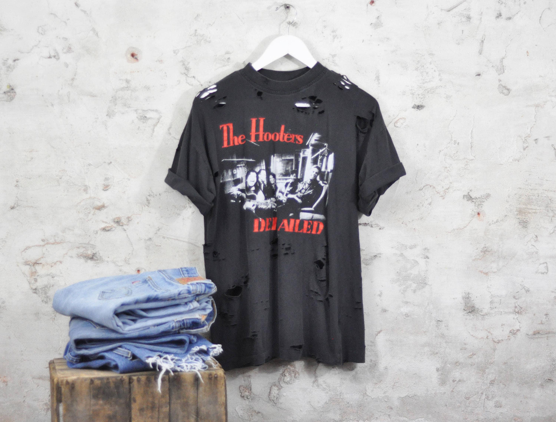 1f954bca9 The Hooters T-shirt 90s Vintage Band Retro Single Stitch Tee