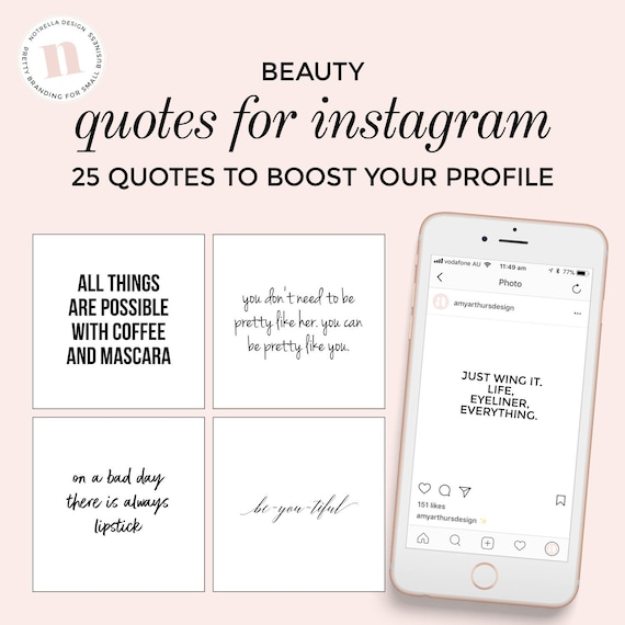 Quotes for Social Media Instagram Beauty Skincare Blogger - Black and White