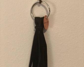Black fringe keyring