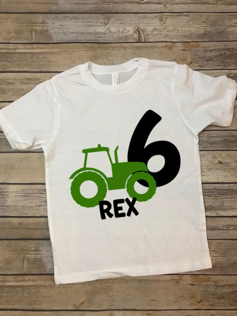 Tractor Birthday T Shirt Kids Bday Custom