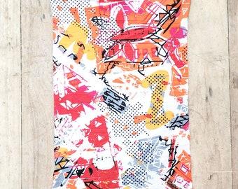 Open (Choose Length and Head Circumference) Loc Dreadlock Headband dread sock wrap turban scarf for locs, knit fabric.