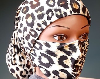 14 inches long (Face Mask with Matching Stay On Soc#2) for locs, braids, dreads Dreadlocks Sock Dreadlock Wrap Lock Hugger Sock