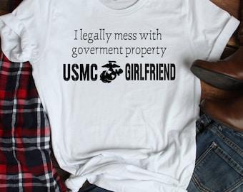 72341594 USMC Girlfriend T-Shirt
