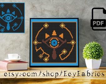 Sheikah Eye Breath of the Wild Cross Stitch Pattern