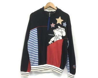 GARBASUS ANGELO Jacket Medium Vintage 90s Garbasus Angelo Italia Cartoon Light Zipper Jacket Size M L