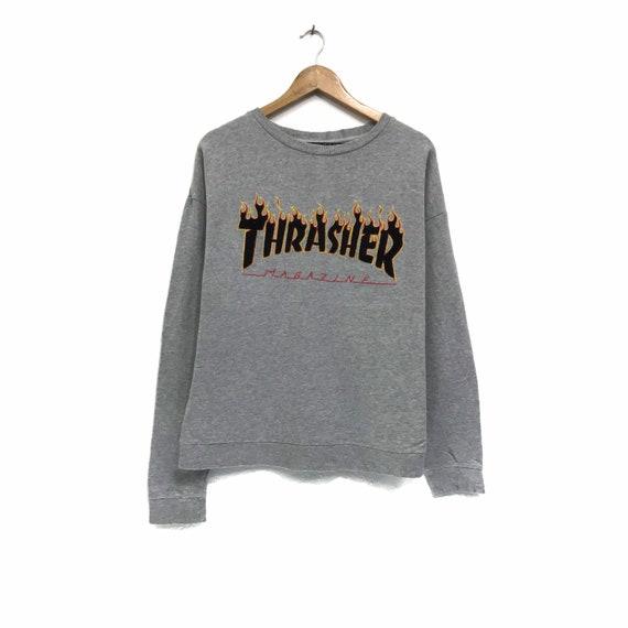 Rare!!! Vintage Thrasher Sweatshirt Crewneck Big L