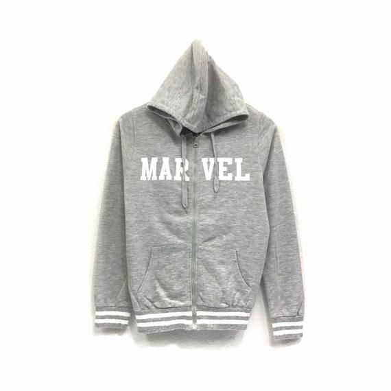Rare!! Vintage MARVEL Hoodie Sweatshirt Biglogo Sp