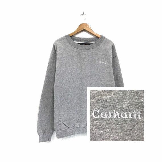 Rare!! Vintage Carhartt Sweatshirt Crewneck Embroi