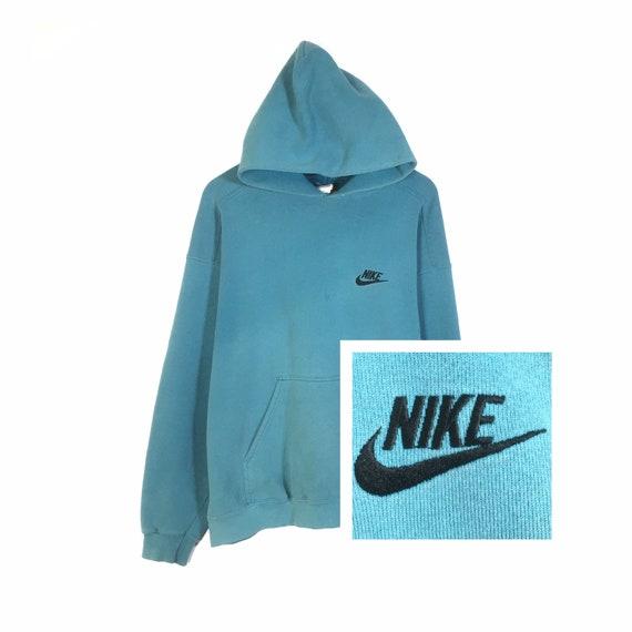 Vintage 90s Nike Hoodie Sweatshirt Embroidery Nike