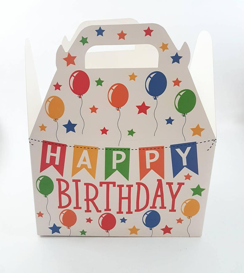 Party Supplies Birthday Gift Gable Boxes Favor Boxes Gift Boxes Happy Birthday Gable Boxes|| Birthday Gift Boxes Packaging Box