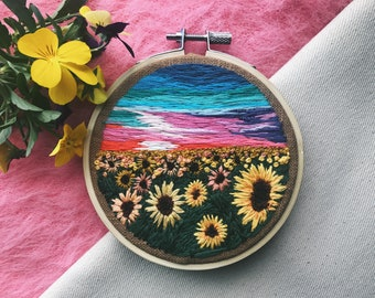 """Embroidery Hoop Art, """"Twilight"""""""