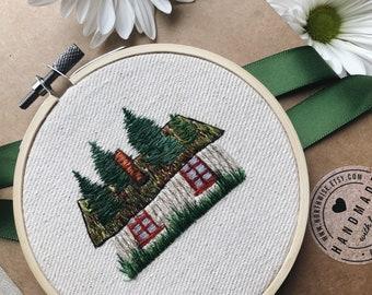 "Embroidery Hoop Art, ""Abandoned"""