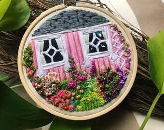 """Embroidery Hoop Art, """"Promise Garden"""""""