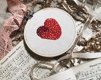 """Embroidery Hoop Art, """"One is the Loneliest..."""""""