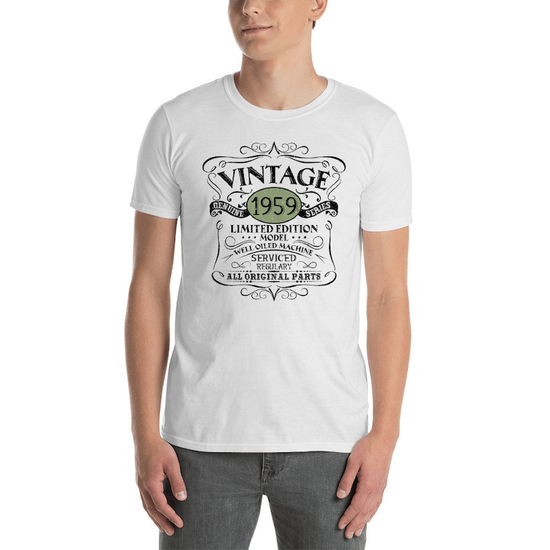 Vintage 1959 T Shirt For Man Woman Funny 60th Birthday Gift