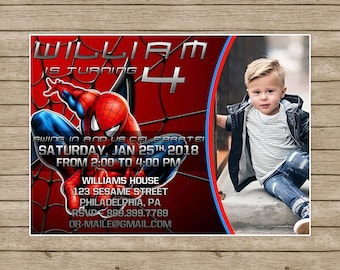 Spiderman InvitationSpiderman Birthday InvitationSpidermanSpiderman PrintableSpiderman Party Invitation Photo