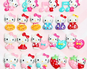 47deb7922 Hello Kitty Mixed Color Style Resin Slime Charms cabochons Ornament or  Scrapbook DIY Crafts CM061