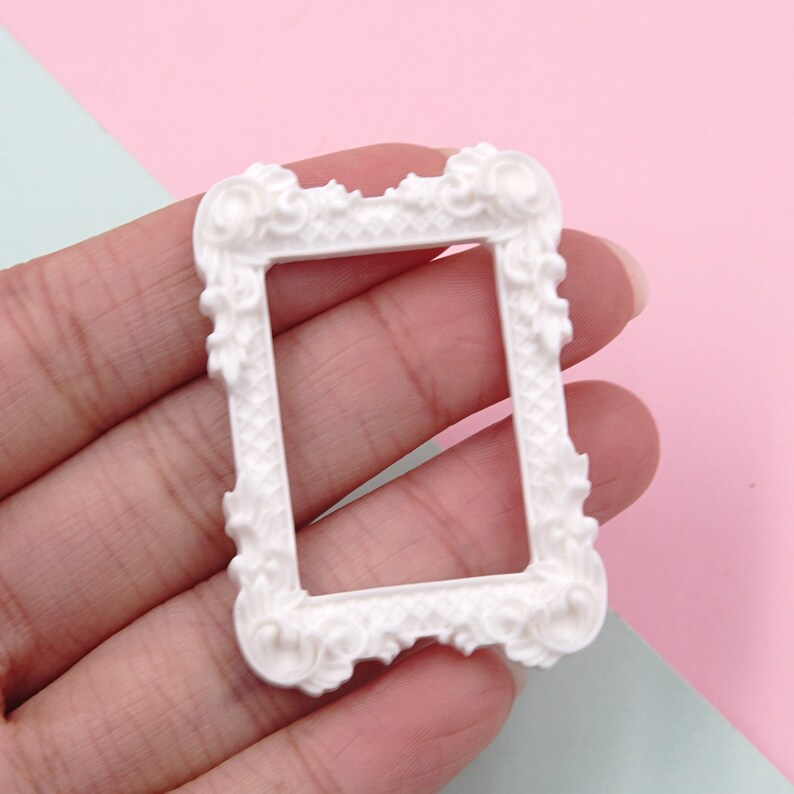 Exquisite Small Photo frame Resin Slime Charms cabochons Ornament or Scrapbook DIY Crafts H0013