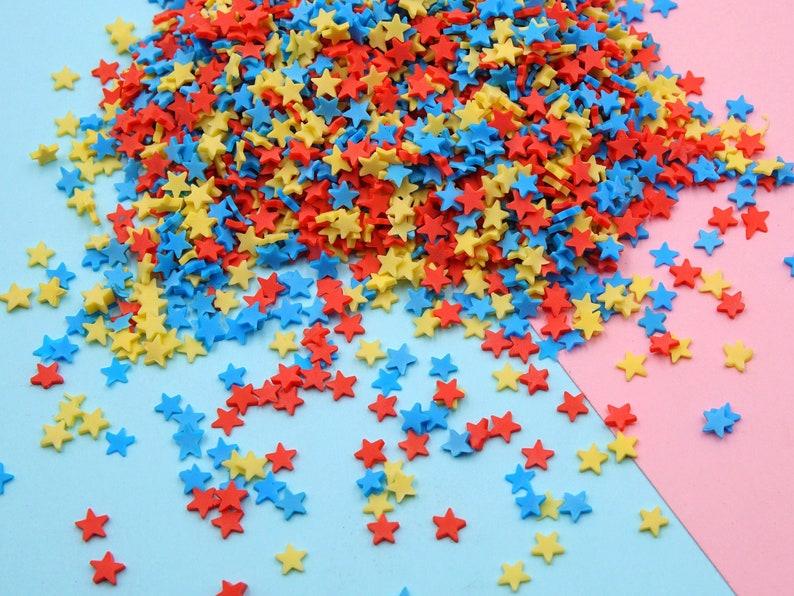 5mm Stars Polymer Clay Slices SPRT42