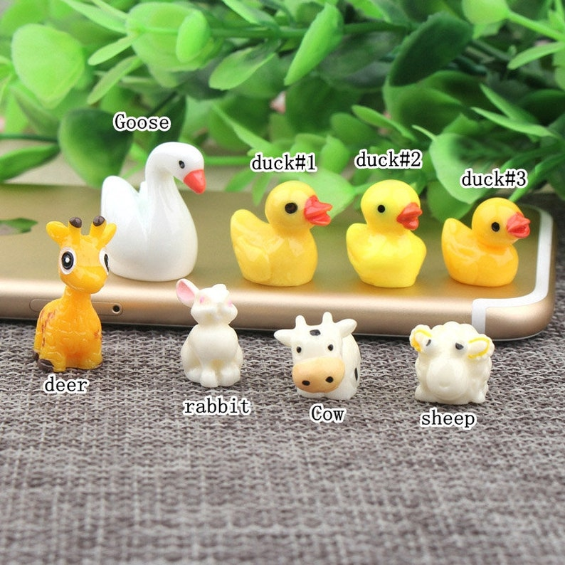 duck rabbit Resin Slime Charms cabochons Ornament or Scrapbook DIY Crafts RCA011