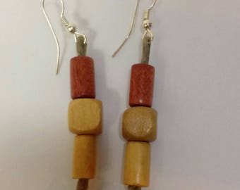 """1 1/2"""" Stylish Handcrafted Wooden Earrings"""