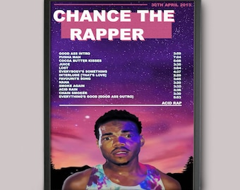 Popular Items For Acid Rap 231 Results Chance The Rapper Custom Poster Instant Download Printable