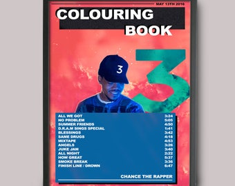 Chance The Rapper Colouring Book Custom Poster Instant Download Printable